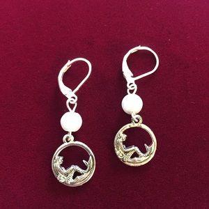 Lounging Mermaids Earrings, NWT